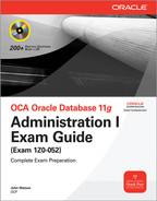 Cover of OCA Oracle Database 11g Administration I Exam Guide (Exam 1Z0-052)