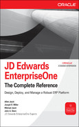 Cover of JD Edwards EnterpriseOne: The Complete Reference