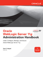 Cover of Oracle WebLogic Server 11g Administration Handbook