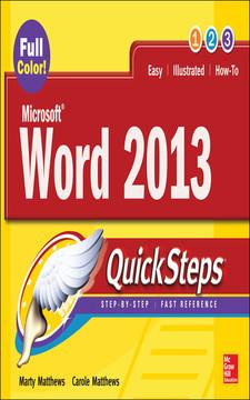 Microsoft® Word 2013 QuickSteps