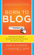 Cover of Born to Blog: Building Your Blog for Personal and Business Success One Post at a Time