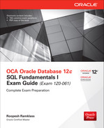 Cover of OCA Oracle Database 12c SQL Fundamentals I Exam Guide (Exam 1Z0-061), 2nd Edition
