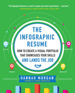 Cover of The Infographic Resume: How to Create a Visual Portfolio that Showcases Your Skills and Lands the Job
