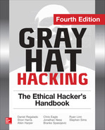 Cover of Gray Hat Hacking The Ethical Hacker's Handbook, Fourth Edition, 4th Edition