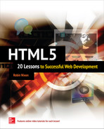 Cover of HTML5: 20 Lessons to Successful Web Development