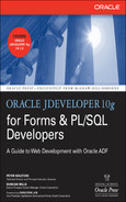 Cover of Oracle JDeveloper 10g for Forms & PL/SQL Developers: A Guide to Web Development with Oracle ADF