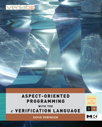 Cover of Aspect-Oriented Programming with the e Verification Language