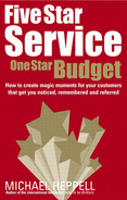 Cover of Five Star Service, One Star Budget: How to create magic moments for your customers that get you noticed, remembered and referred