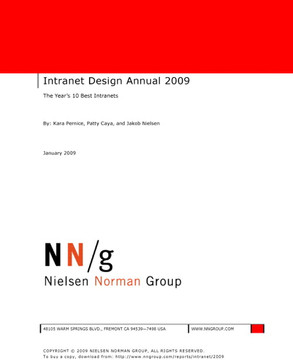 Intranet Design Annual 2009: The Year's Ten Best Intranets
