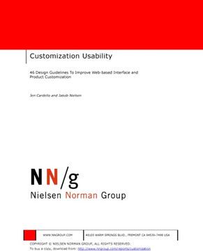Customization Usability: 46 Design Guidelines to Improve Web-based Interface and Product Customization