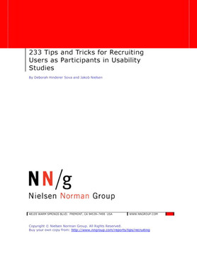 233 Tips and Tricks for Recruiting Users as Participants in Usability Studies