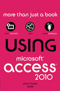 Cover of Using Microsoft® Access® 2010