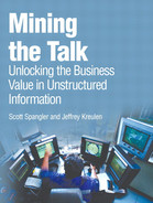 Cover of Mining the Talk: Unlocking the Business Value in Unstructured Information