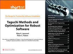 The Design for Trustworthy Software Compilation Taguchi Methods and Optimization for Robust Software