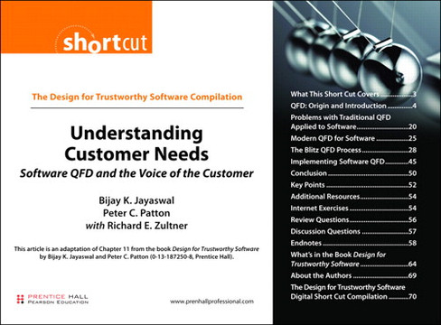 The Design for Trustworthy Software Compilation Understanding Customer Needs: Software QFD and the Voice of the Customer