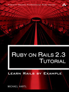 Cover of Ruby on Rails™ 2.3 Tutorial: Learn Rails by Example