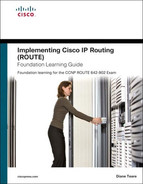 Cover of Implementing Cisco IP Routing (ROUTE) Foundation Learning Guide: Foundation Learning for the ROUTE 642-902 Exam