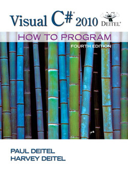 Visual C# 2010: How to Program, Fourth Edition