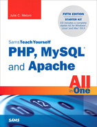 Cover of Sams Teach Yourself PHP, MySQL® and Apache All in One, Fifth Edition