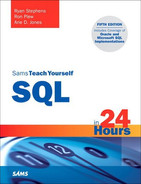 Cover of Sams Teach Yourself SQL in 24 Hours, Fifth Edition