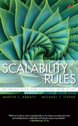 Cover Image: Scalability Rules: 50 Principles for Scaling Web Sites, by Martin L. Abbott; Michael T. Fisher