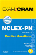 Cover of Exam Cram: NCLEX-PN® Practice Questions