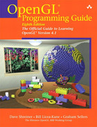 Cover of OpenGL Programming Guide: The Official Guide to Learning OpenGL, Version 4.3, Eighth Edition