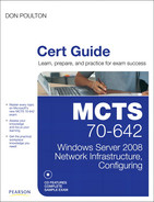 Cover of MCTS 70-642 Cert Guide: Windows Server® 2008 Network Infrastructure, Configuring