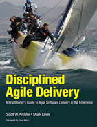 Cover of Disciplined Agile Delivery: A Practitioner's Guide to Agile Software Delivery in the Enterprise