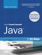 Cover of Sams Teach Yourself Java in 21 Days, Sixth Edition
