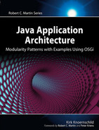 Cover of Java Application Architecture: Modularity Patterns with Examples Using OSGi