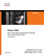 Cover of Cisco ASA: All-in-One Next-Generation Firewall, IPS, and VPN Services, Third Edition