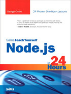 Cover of Sams Teach Yourself Node.js in 24 Hours