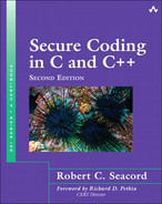 Cover of Secure Coding in C and C++, Second Edition