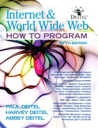 Cover of Internet & World Wide Web: How to Program, Fifth Edition