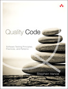 Cover of Quality Code: Software Testing Principles, Practices, and Patterns