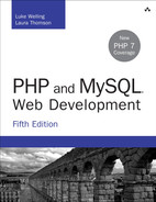 Cover of PHP and MySQL® Web Development, Fifth Edition