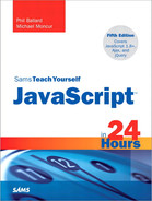 Cover of Sams Teach Yourself JavaScript™ in 24 Hours, Fifth Edition