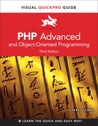Cover of PHP Advanced and Object-Oriented Programming: Visual Quickpro Guide, Third Edition