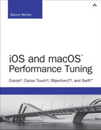 Cover of iOS and macOS Performance Tuning: Cocoa, Cocoa Touch, Objective-C, and Swift