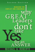 Cover of Why Great Leaders Don't Take Yes for an Answer: Managing for Conflict and Consensus, Second Edition