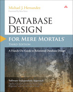 Cover of Database Design for Mere Mortals®: A Hands-on Guide to Relational Database Design, Third Edition