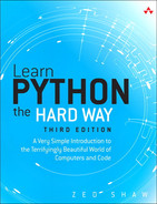Cover of Learn Python the Hard Way: A Very Simple Introduction to the Terrifyingly Beautiful World of Computers and Code, Third Edition, Video-Enhanced Edition