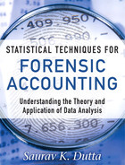 Cover of Statistical Techniques for Forensic Accounting: Understanding the Theory and Application of Data Analysis