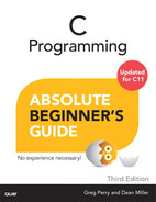 Cover of C Programming Absolute Beginner's Guide, Third Edition