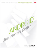 Cover of Android™ User Interface Design: Turning Ideas and Sketches into Beautifully Designed Apps