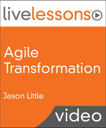 Book cover for Agile Transformation LiveLessons (Video Training): Four Steps to Organizational Change