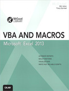 Cover of Excel® 2013 VBA and Macros
