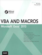Cover of Excel® 2013 VBA and Macros, Video Enhanced Edition