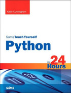 Cover of Python in 24 Hours, Sams Teach Yourself, Second Edition